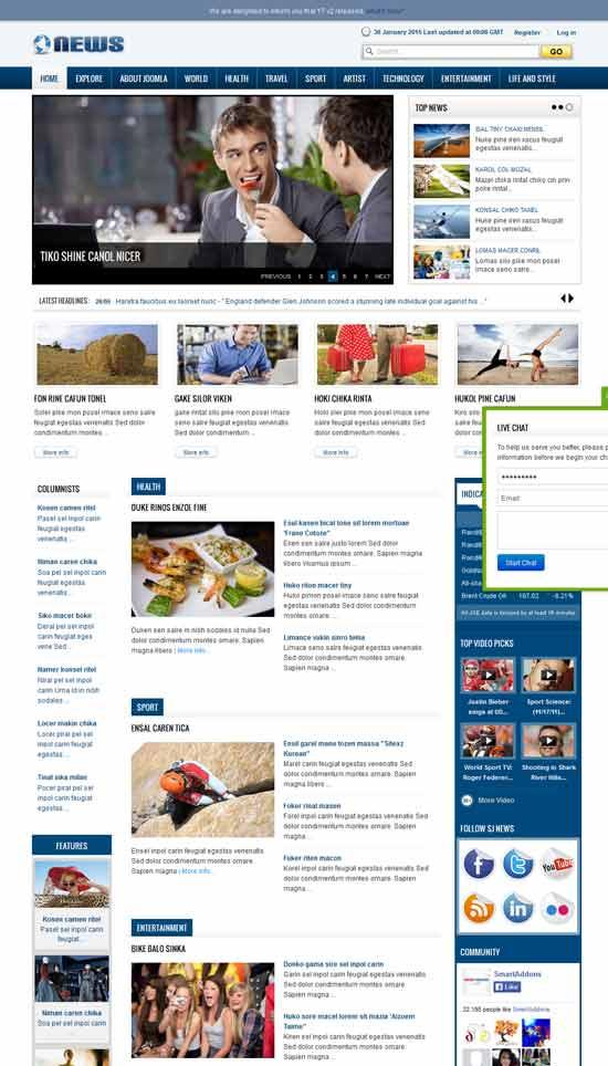 SJ-News-Free-Joomla-Magazine-Template
