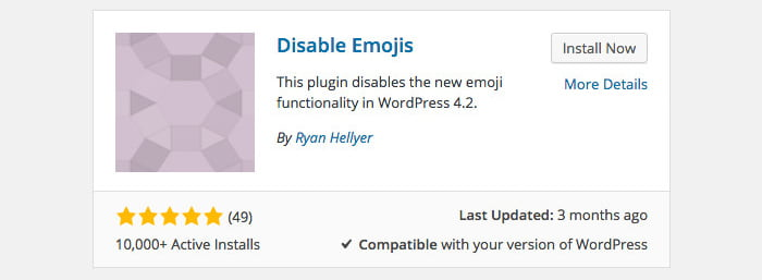 Come disabilitare le emoticons di WordPress