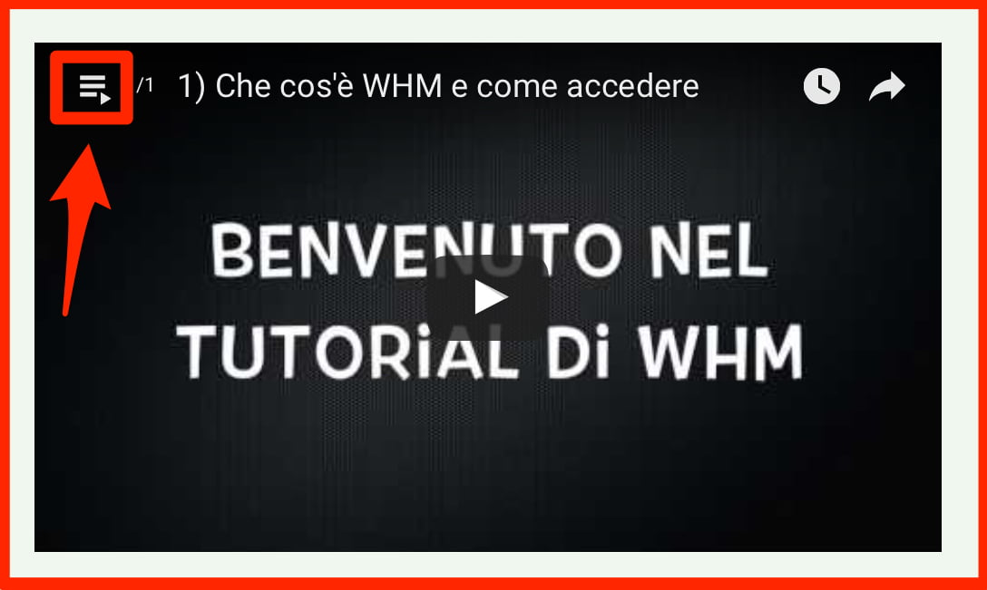 Guida Video Tutorial WHM
