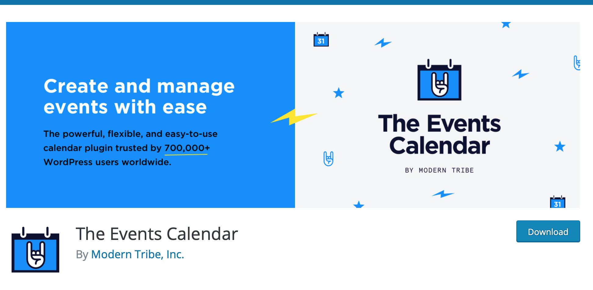 the event calendar