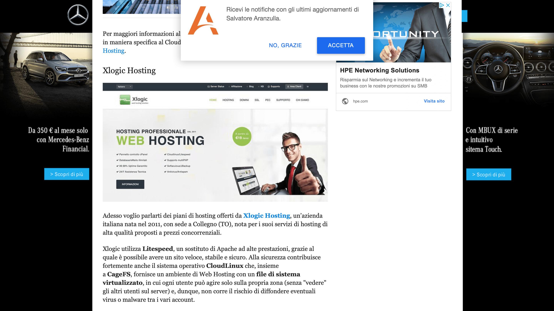 migliori hosting wordpress aranzulla