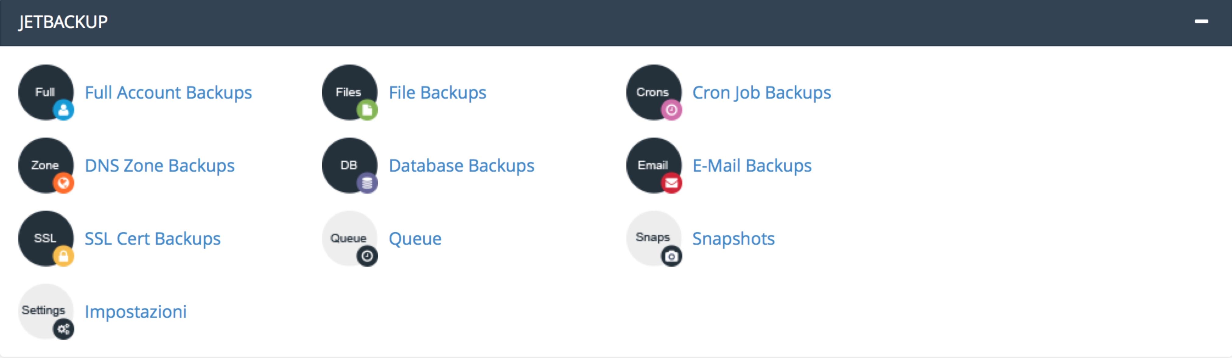 Backup Automatico sito web
