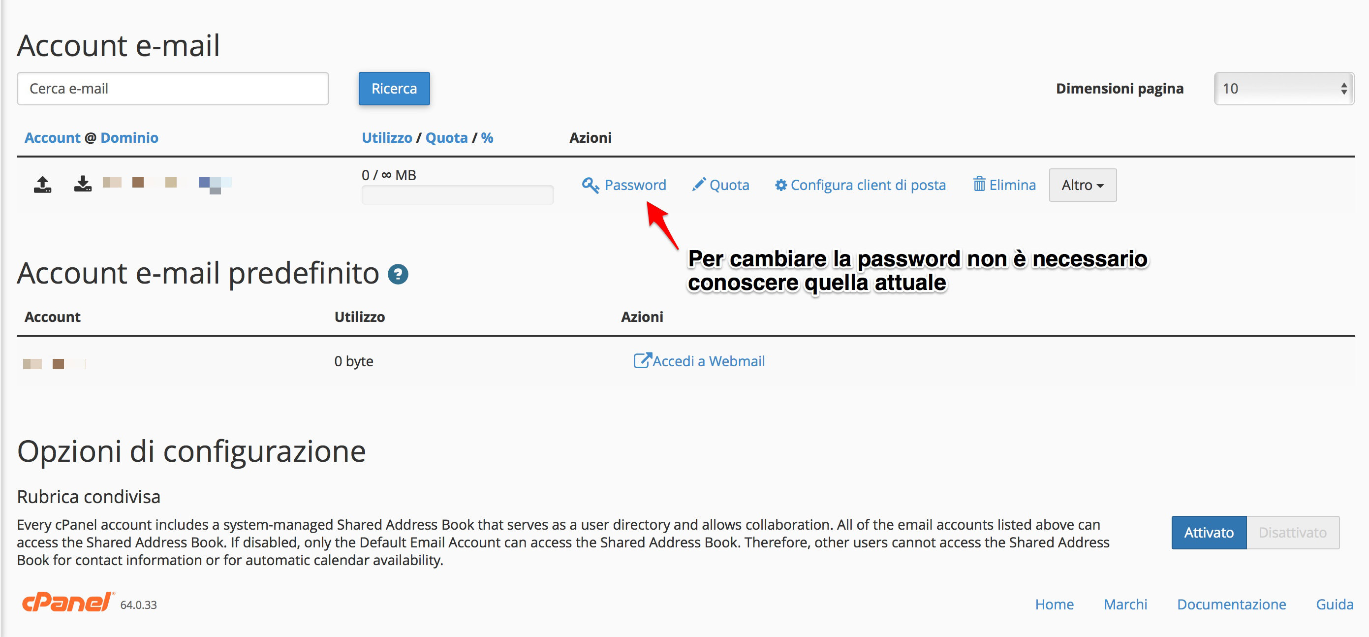 Come modificare la password di un indirizzo mail