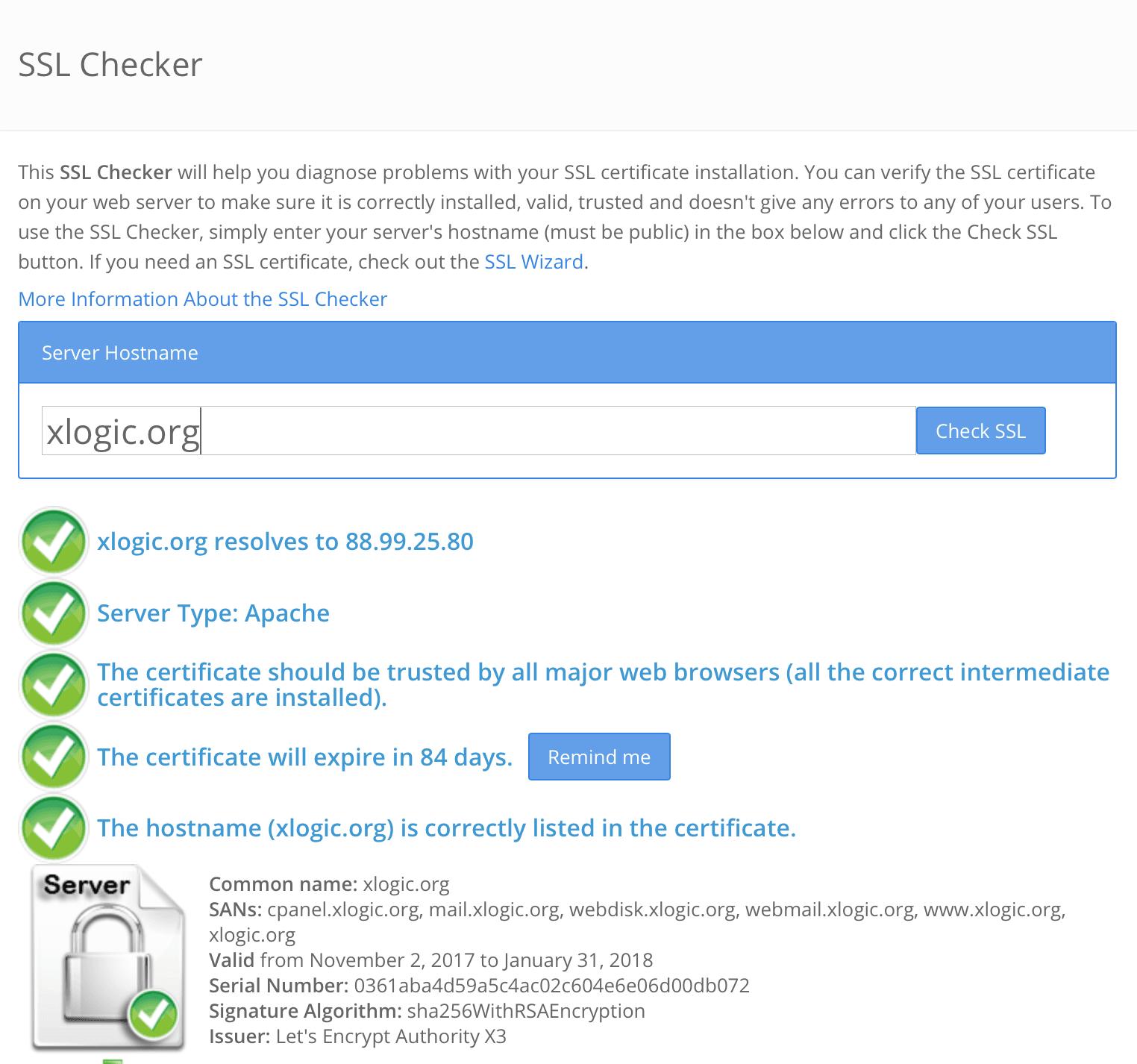 Come posso scoprire se il Certificato SSL è stato installato correttamente ed è valido?