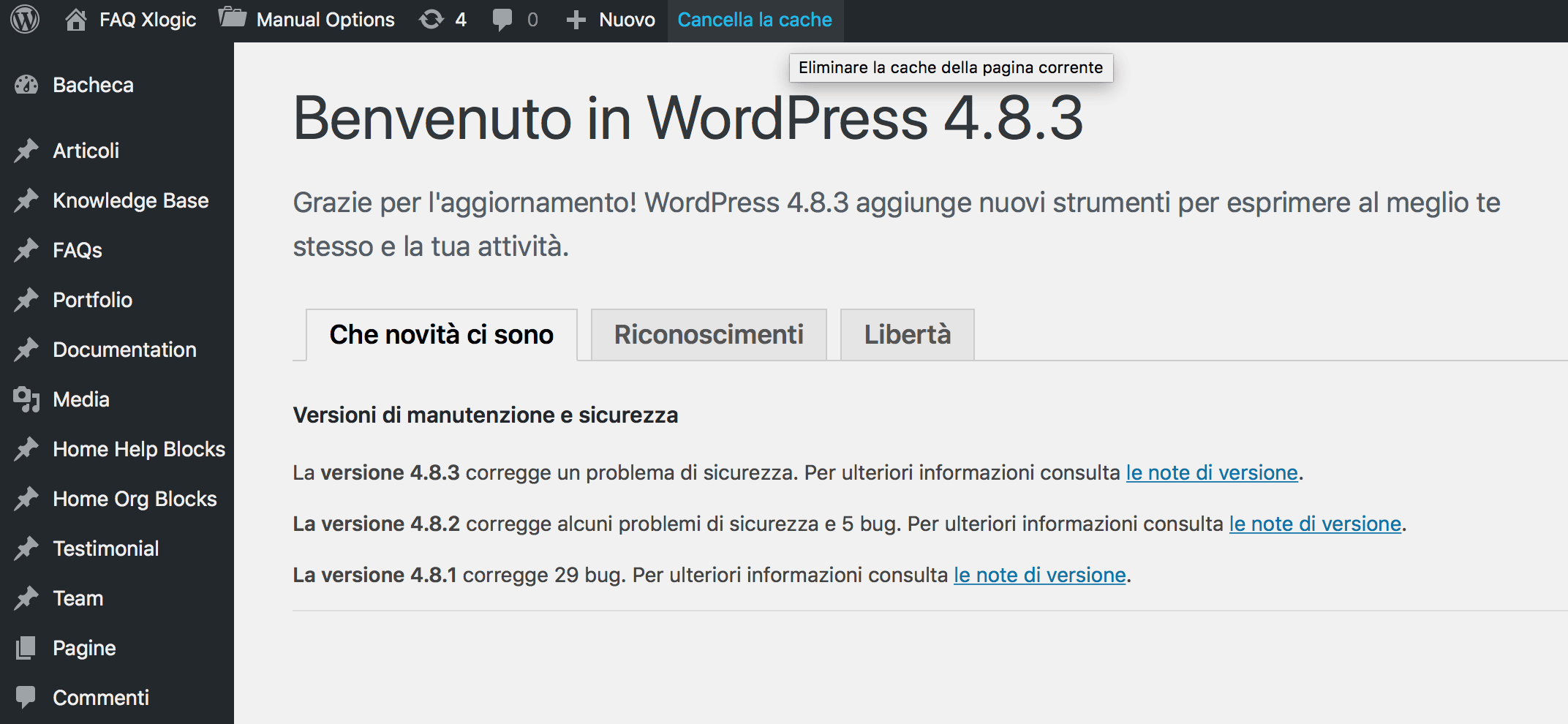 Come cancellare la cache di WordPress