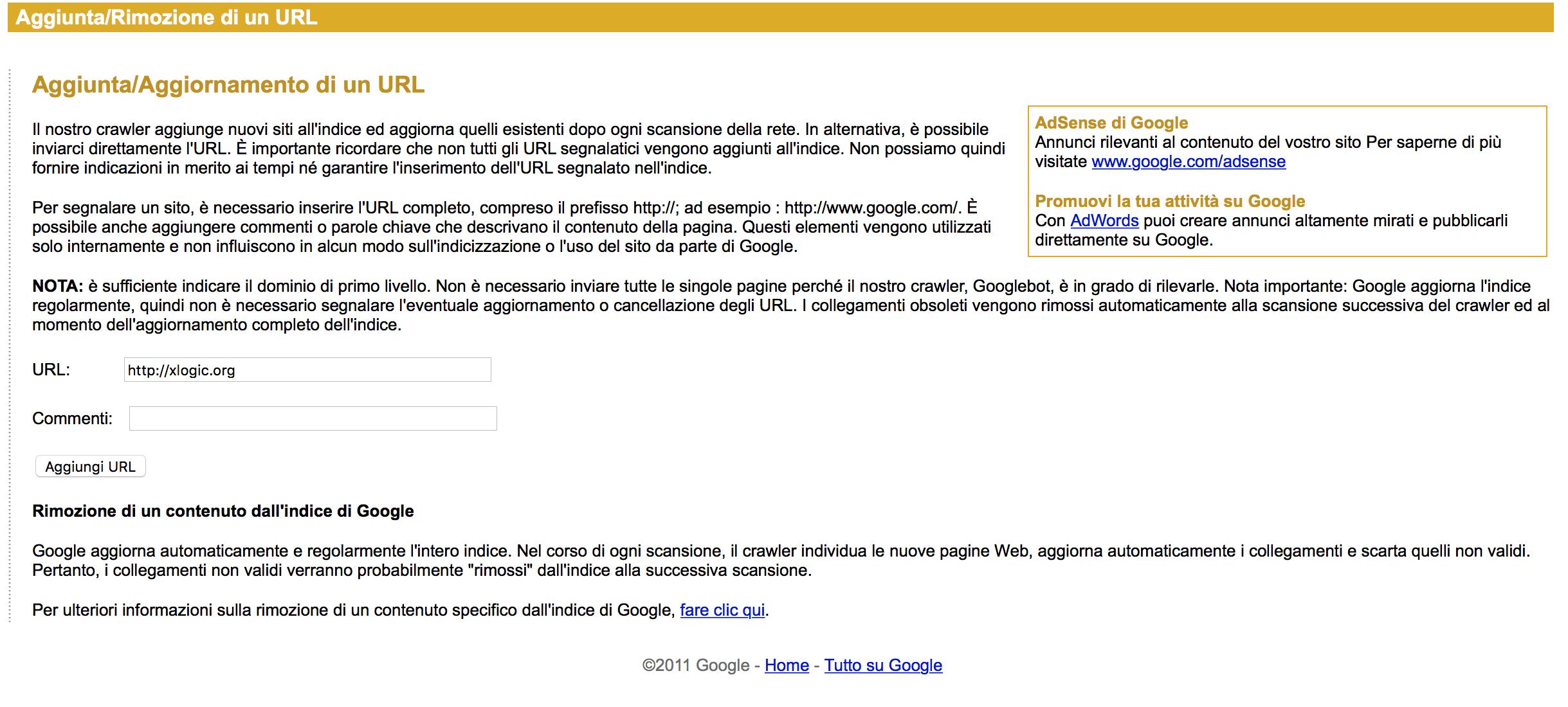 Come aggiungere il sito sui motori di ricerca - SEO