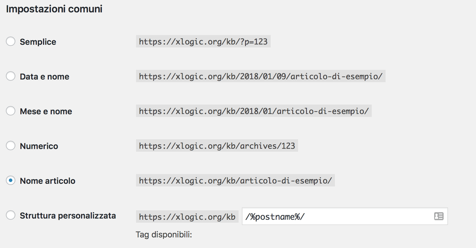 Come cambiare la struttura permalink di WordPress - SEO